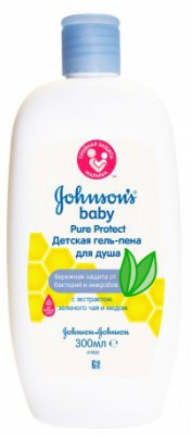 Гель пена для душа Johnsons Baby Pure Protect 300 мл 3574661172453